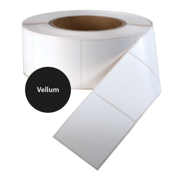 Etiketten rol Vellum